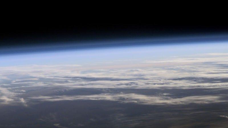 La estratosfera de la Tierra. Imagen: NASA