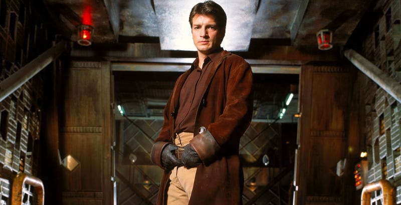 Nathan Fillion, seen here in Firefly, had a meta cameo cut from Guardians of the Galaxy Vol. 2. Image: Fox