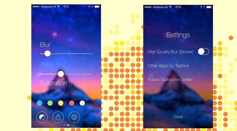 Illustration for article titled Blur Studio Creates Blurred iOS 7 Wallpapers from Any Image