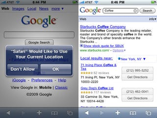 Illustration for article titled Google Now Finds Stuff Nearby Using Your Location in Mobile Safari