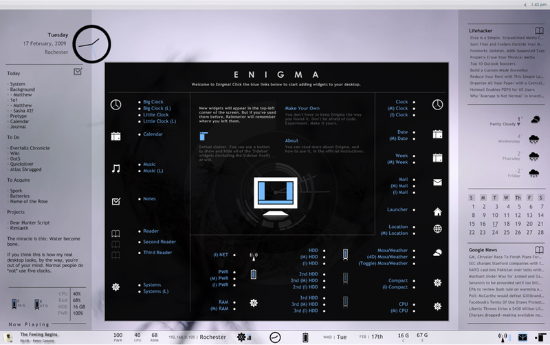 Illustration for article titled Enigma Desktop 2.0 Released, Adds Installer, Widget Manager, and Templates