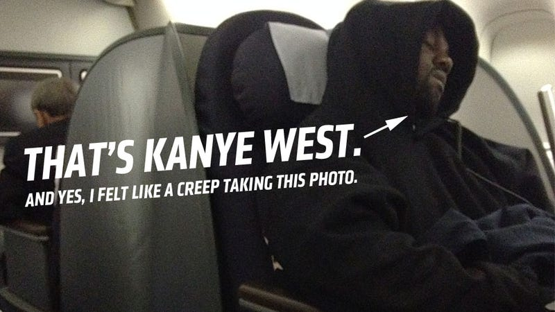 Illustration for article titled What It's Like To Fly Across The Atlantic Three Feet From Kanye West