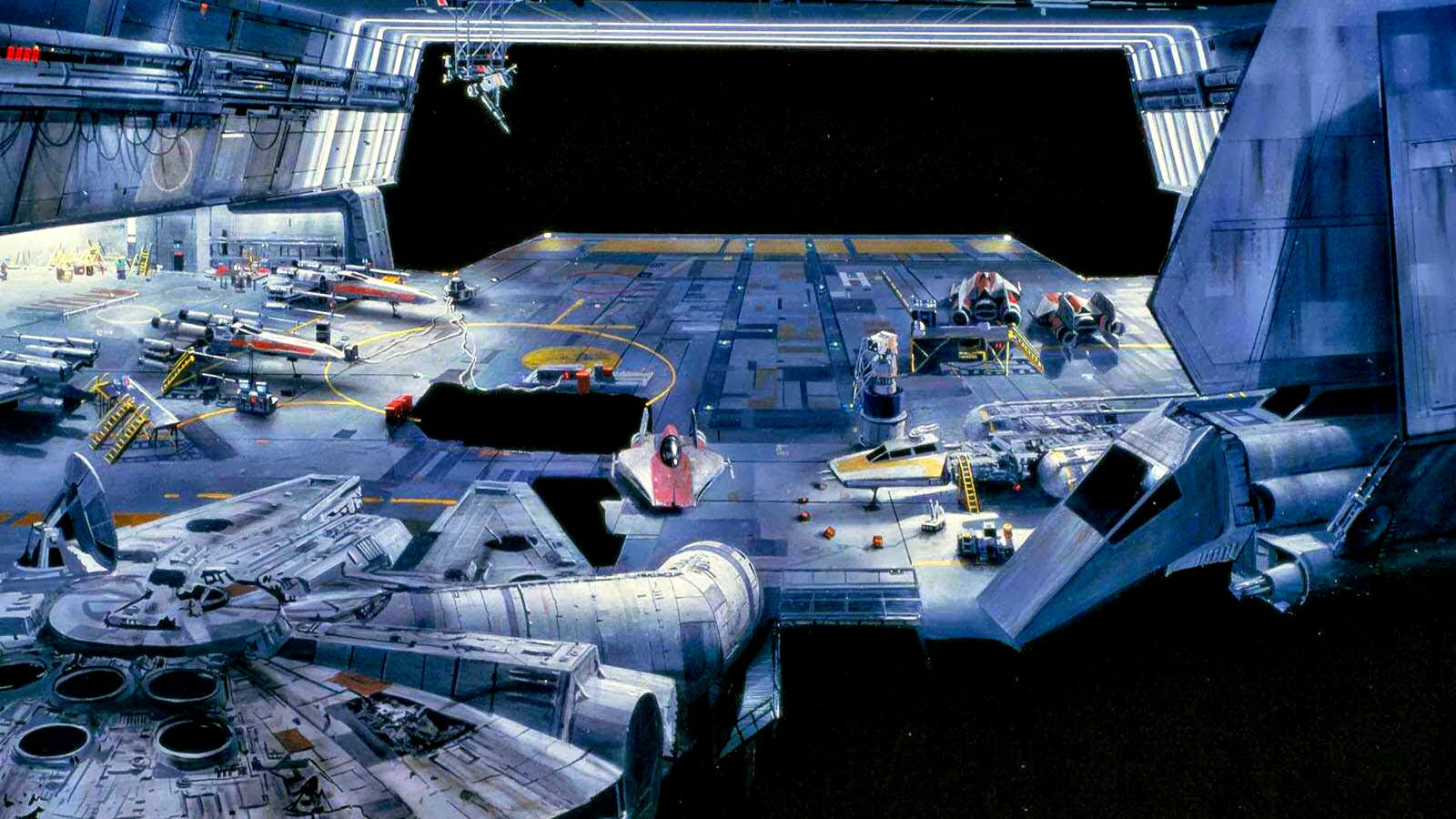How ILM made you believe this painting was a real hangar in Star Wars