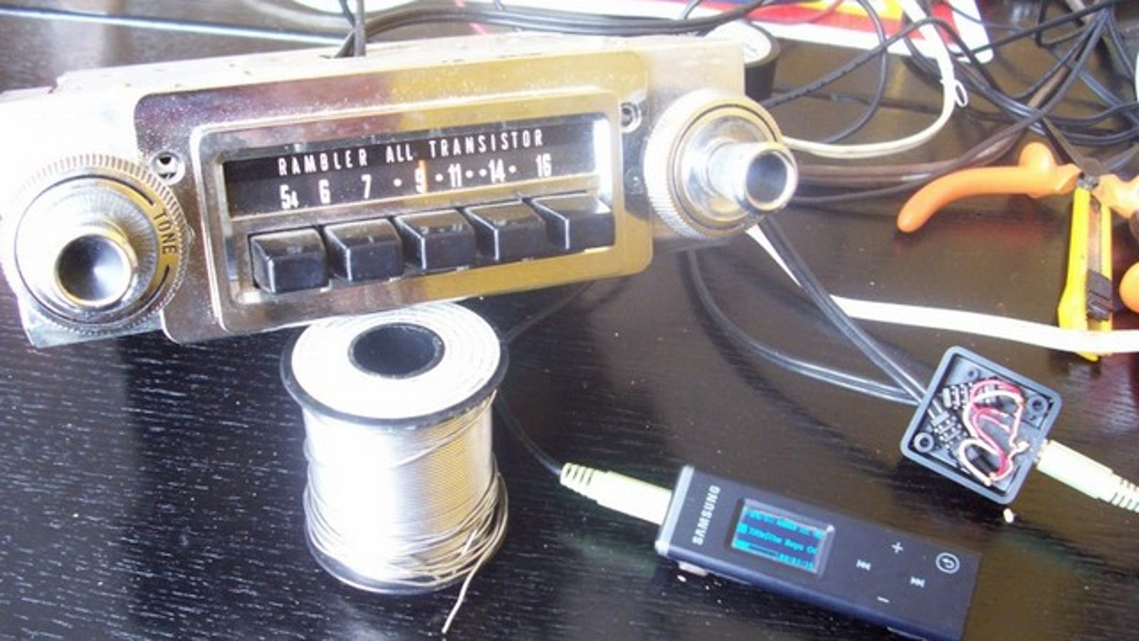 Wire an Old Car Radio for MP3 Input