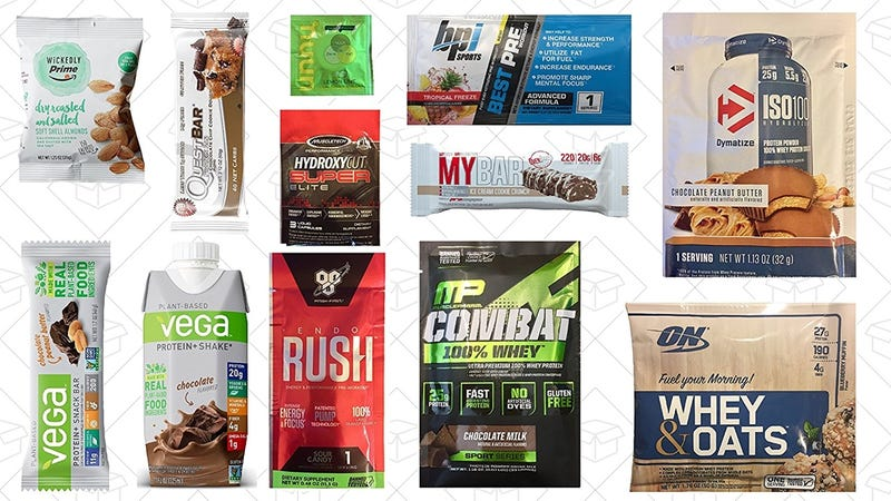 Mr. Olympia Sports Nutrition Sample Box | $10 | Amazon | Plus $10 credit on select productsNutrition & Wellness Sample Box | $10 | Amazon | Plus $10 credit on select priducts