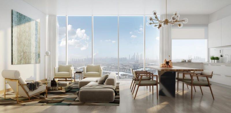 Un apartamento de lujo promocionado en Dubái a partir de 18 bitcoins. Imagen: Aston Plaza & Residences