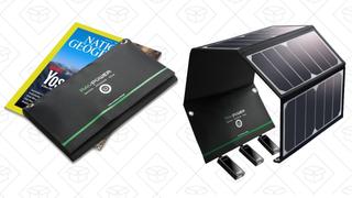 Cargador solar USB RAVPower de 24W | $60 | Amazon | Usa el código KINJAW3F