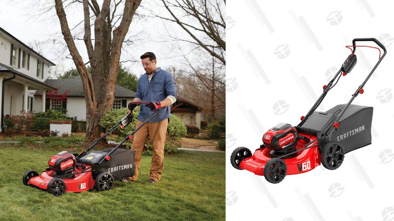 CRAFTSMAN V60 3-in-1 Cordless Lawn Mower | $400 | Amazon