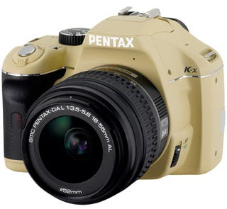 Illustration for article titled Pentax Ill-Advised Beige K-x Camera Model