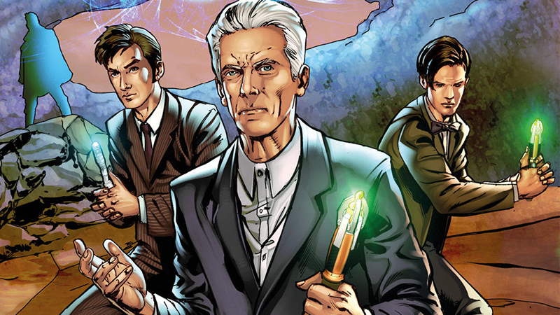 Illustration for article titled The Four Doctors Is a Comic Reunion the Twelfth Doctor Never Knew He Needed