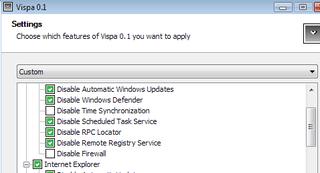 Tweak Vista settings with Vispa