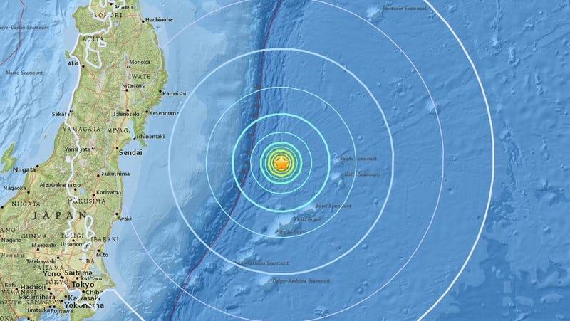El epicentro del terremoto. (Imagen: US Geological Survey)