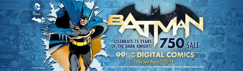 Illustration for article titled PSA: Comixology Batman Sale & Free Copy of Detective Comics 27 (Original & Batman Day Special Edition)