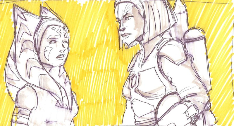 Illustration for article titled Concept Art Sketches for the Clone Wars Stories We Never Saw