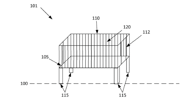 Patent drawing for Nest's smart crib concept