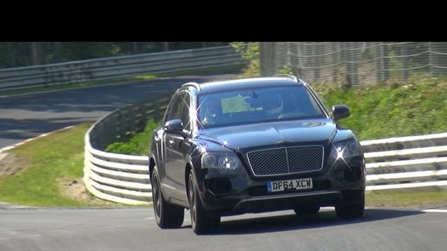bentley bentayga looks like a runaway farm animal on the n rburgring. Black Bedroom Furniture Sets. Home Design Ideas