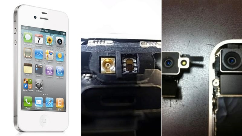 Illustration for article titled Size Isn't Everything: White iPhone 4 Has Modified Innards, Too