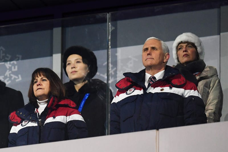 Vice President Mike Pence watches during the Opening Ceremony of the 2018 Winter Olympic Games at Pyeongchang Olympic Stadium on Feb. 9, 2018, in Pyeongchang, South Korea. (Matthias Hangst/Getty Images)