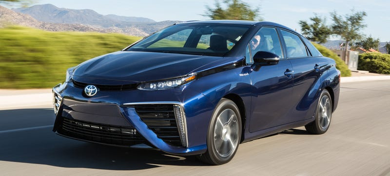 Illustration for article titled The Hydrogen Toyota Mirai Gets Three Years Of Free Fuel, Is Crazy Ugly