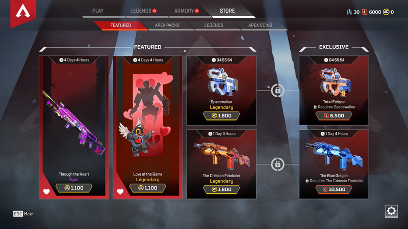 Illustration for article titled The New Apex Legends Skin Prices Are Too Damn High