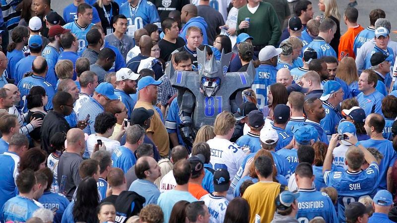 Illustration for article titled Lions Fans Excited To Be Booing Again