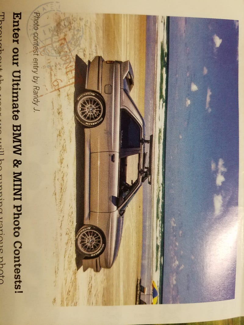 Illustration for article titled E30 m3 in the living room, and on the beach