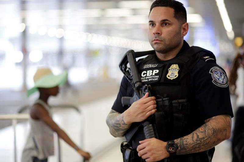 US Customs and Border Protection officer at the Miami International Airport on July 1, 2016 (AP Photo/Lynne Sladky)