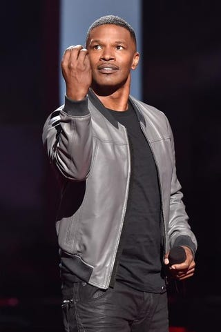 Jamie Foxx hosting the 2015 iHeartRadio Music Awards at the Shrine Auditorium in Los Angeles March 29, 2015Kevin Winter/Getty Images for iHeartMedia