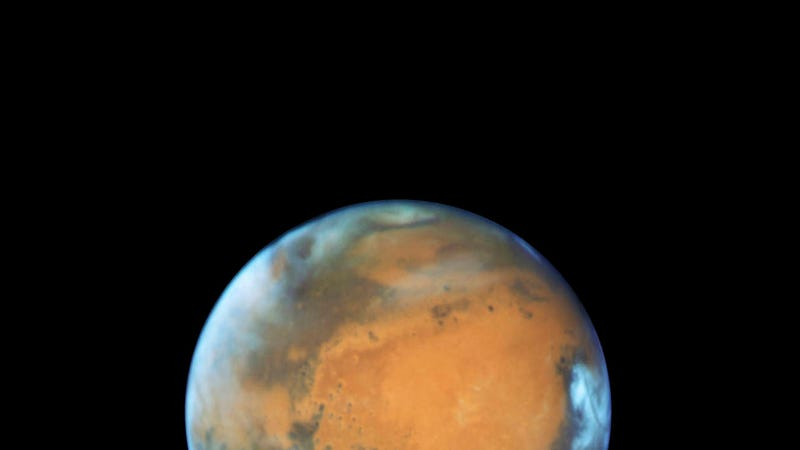 Mars portrait captured by Hubble in the days leading up the close approach (Image: NASA, ESA, the Hubble Heritage Team (STScI/AURA), J. Bell (ASU), and M. Wolff (Space Science Institute))