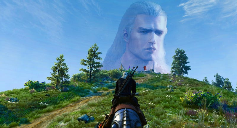 Illustration for article titled Henry Cavill Is Now Geralt In The Witcher 3, Too