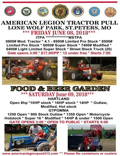 Illustration for article titled Taking the kids to  their first tractor pull tonight.