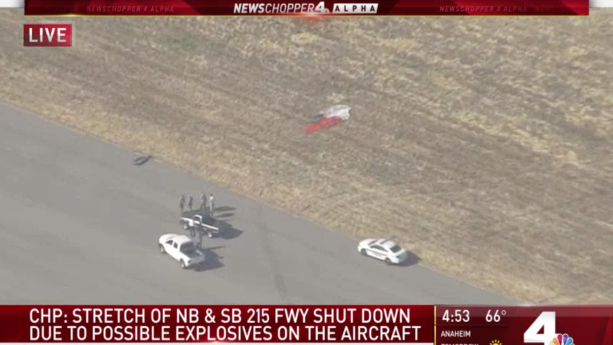An F-16 Fighter Jet Fell Through the Roof of a California