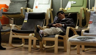 Illustration for article titled Beijing's IKEA Is Apparently a Great Place for a Snooze