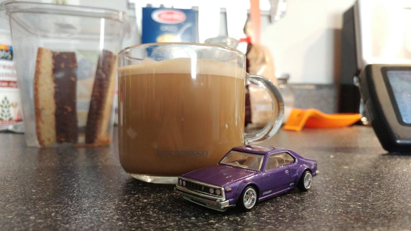 What goes well with cars? Coffee, that's what. Shoutout to Nespress.
