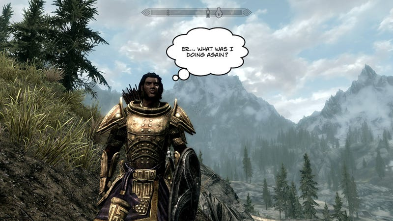 Illustration for article titled Skyrim is the Pinnacle of Short Attention Span Gaming