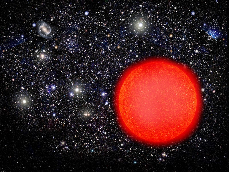 Illustration for article titled A Star Made Of Red Matter, From Before Our Galaxy Existed