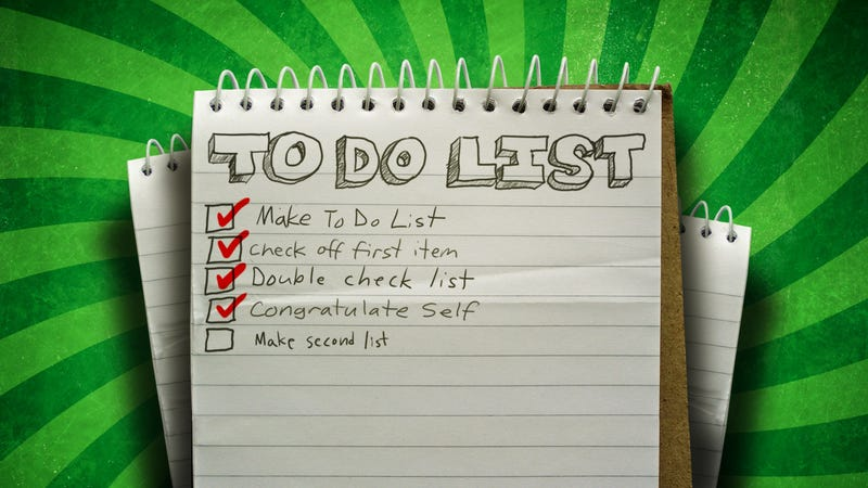 Illustration for article titled Show Us Your To-Do List