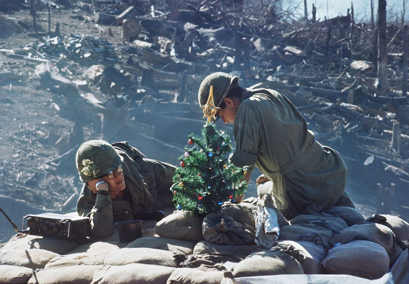 Hill 875 near Dakto, Vietnam, December 25, 1967. (AFP / Getty)