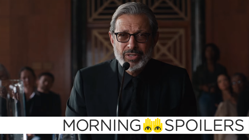 Jeff Goldblum getting his science on in Jurassic World: The Fallen Kingdom