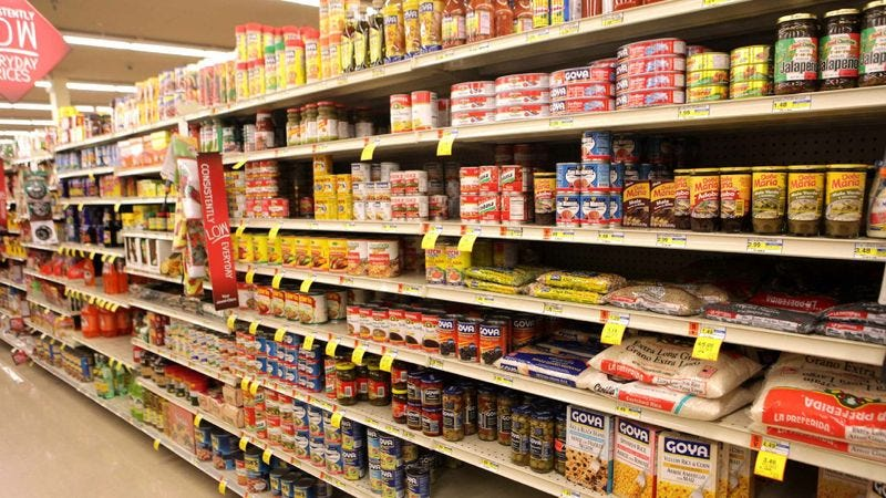 Illustration for article titled Aisle Of Hispanic Food Items All Man Needs To Know About Fate Of Country