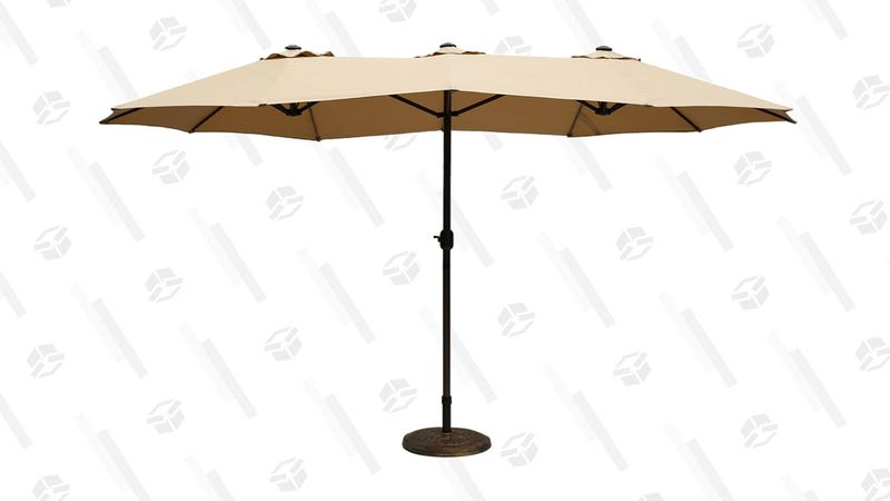 Le Papillon Market Outdoor Umbrella, 15 Feet | $90 | Amazon | Promo code VTRNJZ3S