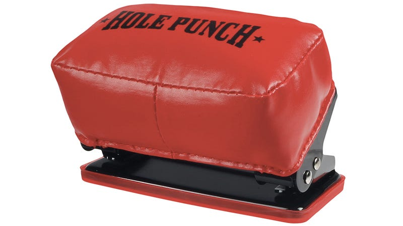 Illustration for article titled What Could Be More Satisfying Than Using This Punching Bag Hole Punch?