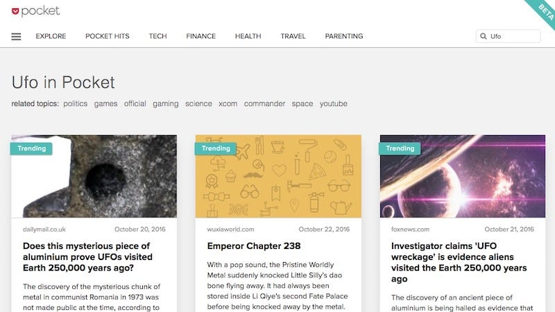 Illustration for article titled Pocket's New Explore Tab Makes It Easier to Find New Articles