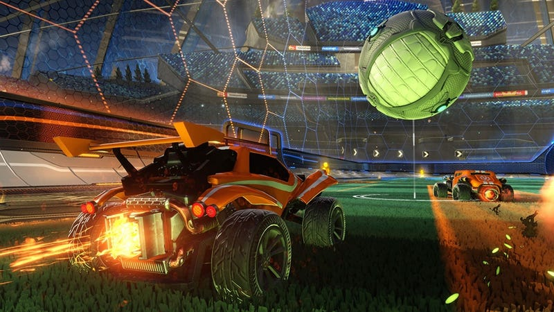 Illustration for article titled Perfect Rocket League Save Gets Denied By The Plunger
