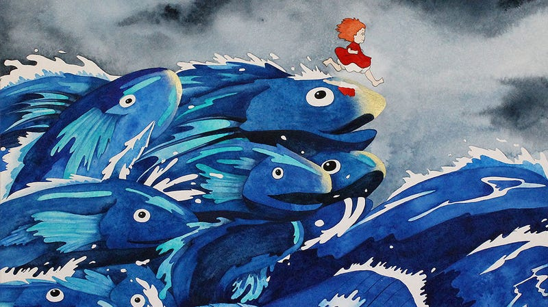 A crop of Kate Snow's piece based on Ponyo for Spoke Art.