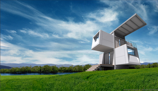 Illustration for article titled Prefab ZeroHouse is Ecotopian Dream
