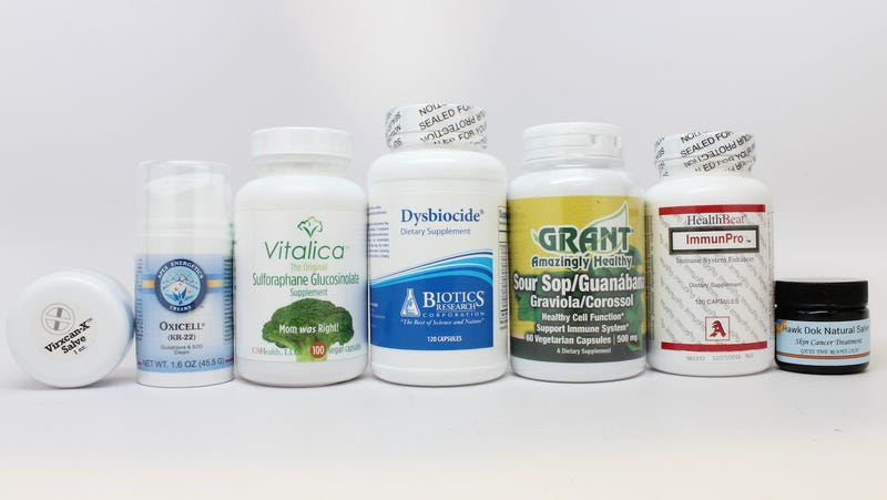 Some of the products the FDA is cracking down on. IMAGE: FDA