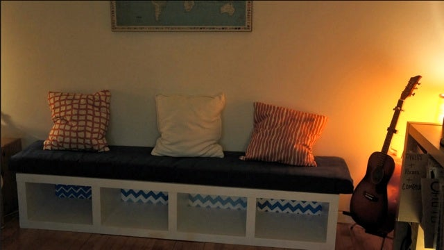 Turn An Ikea Bookshelf Into An Attractive Bench