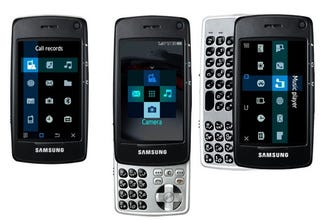 Illustration for article titled Samsung SGH-F520 Cellphone Slides Up and Down, Side to Side: Rubik's and iPhone Clone?