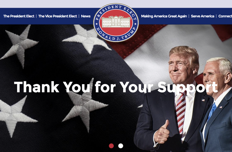 Illustration for article titled Donald Trump Has His Own .Gov Site Now and Oh God It's All Real